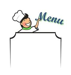 Chef with Menu Area vector image