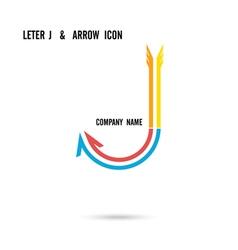 Creative letter J icon logo design vector image