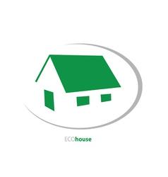 eco house art vector image vector image
