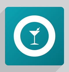 flat cocktail icon vector image