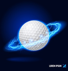 Golf high voltage vector image vector image