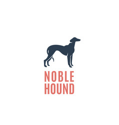 noble hound abstract sign emblem or logo vector image vector image