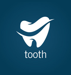 tooth dental logo vector image vector image