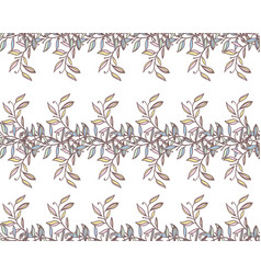 vintage floral seamless background vector image vector image