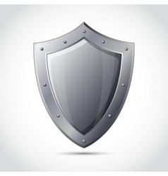 Blank shield business protection emblem vector image vector image