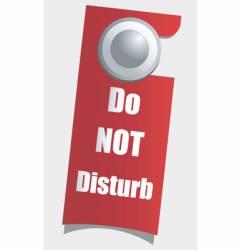 door handle sign vector image