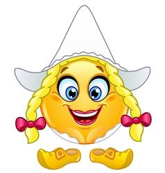 dutch emoticon vector image