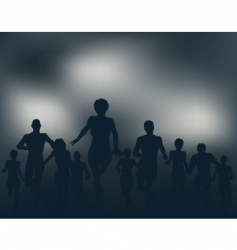 night runners vector image vector image