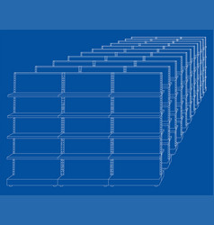 racks with shelves sketch vector image vector image