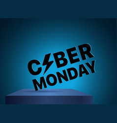 the cyber monday label discound label vector image vector image
