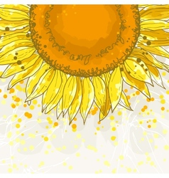 The square frame with sunflowers vector image