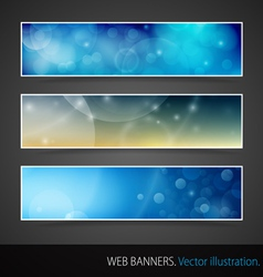 Abstract Banner With Bokeh vector image
