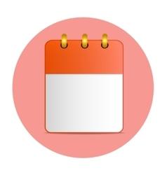 Blank sheet of desktop calendar in red color vector image vector image