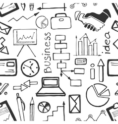 Doodle PATTERN business vector image vector image
