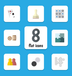 flat icon games set of pawn people guess and vector image vector image
