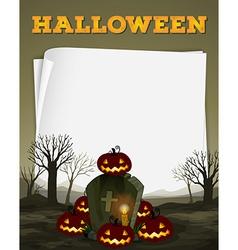 Halloween theme with graveyard vector image