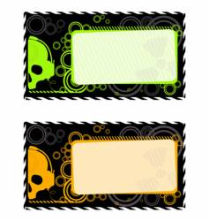 industrial frames with skull vector image vector image