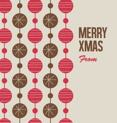 Merry Christmas card with christmas balls vector image vector image