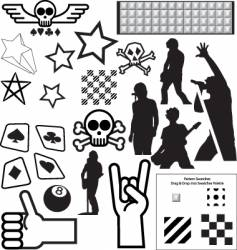Punk pack vector