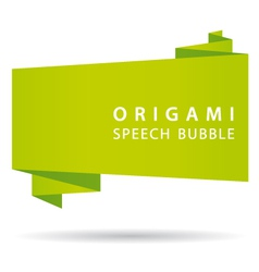 green origami speech bubble vector image