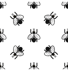 Insects flat icons pattern vector image