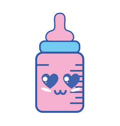 Kawaii cute tender feeding bottle vector