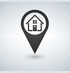 map pointer map markers icon home flat design vector image
