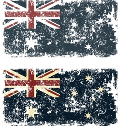 Old scratched flag vector image vector image
