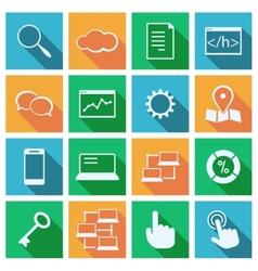 SEO marketing services vector image