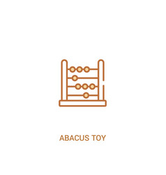 Abacus toy concept 2 colored icon simple line vector