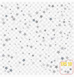 abstract pattern of random falling silver stars vector image