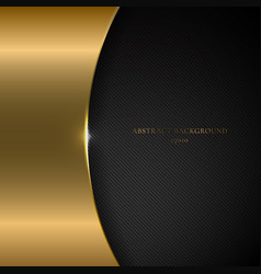 abstract template gold metallic curve on black vector image