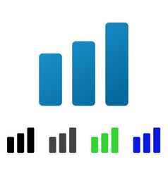 bar chart increase flat gradient icon vector image