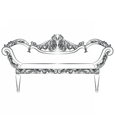 Baroque luxury style furniture vector
