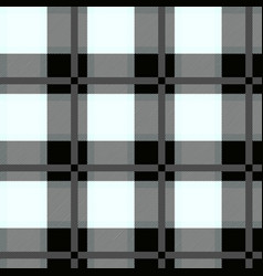 black and white tartan seamless pattern vector image