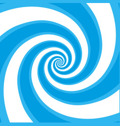 Blue hypnotic spiral vector