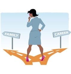 Career or family vector image