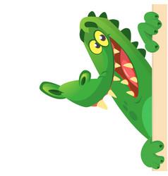 cartoon crocodile or alligator vector image