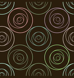 circle abstract pattern for design vector image