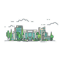 City business center vector