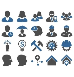Client and business icon set vector