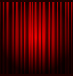 Closed red theater curtain background for banner vector