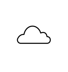 cloud icon black on white vector image