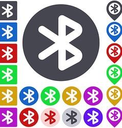 Color bluetooth icon set vector image