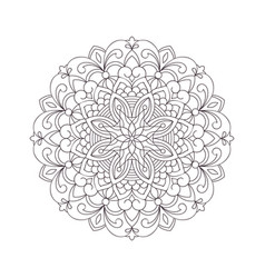 Coloring page circle mandala vector