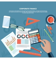 Corporate finance business management concept vector image