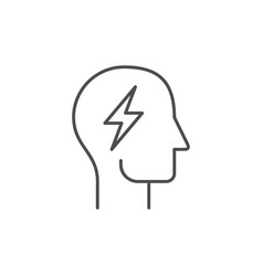 creative mind line outline icon vector image