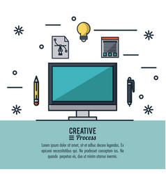creative process infographic vector image