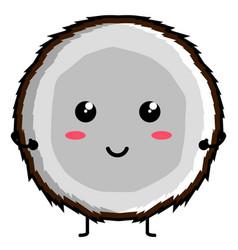 cute coconut emoticon vector image