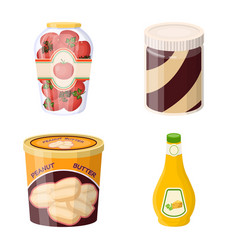 design of can and food icon set of can and vector image